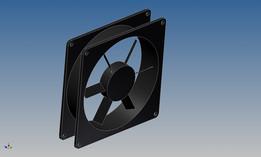 simple 19 inch rack fan