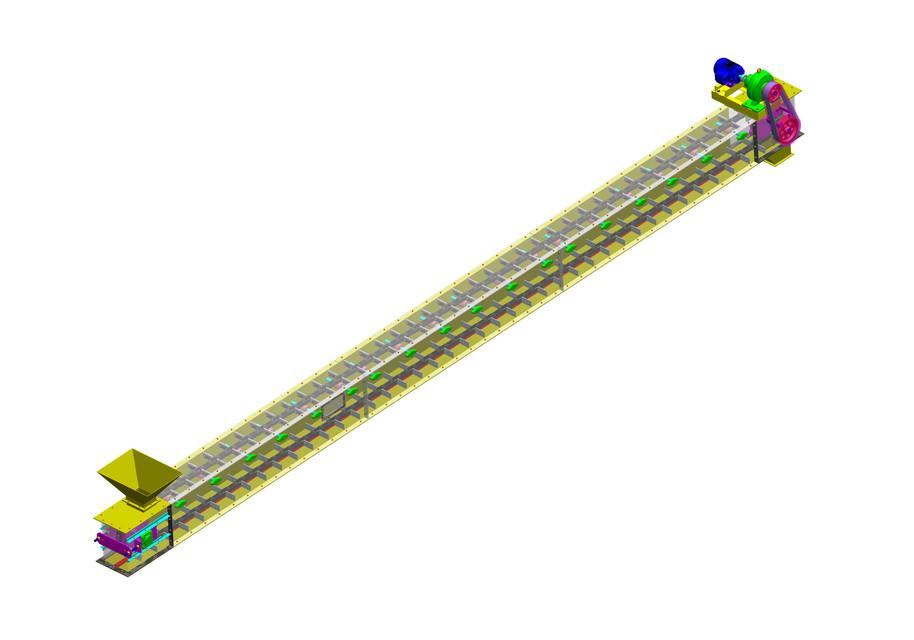 Модель конвейера в 3d скребковый конвейер производители