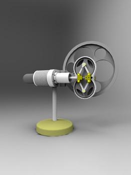 Rhombic Stirling Engine by Julius De Waal