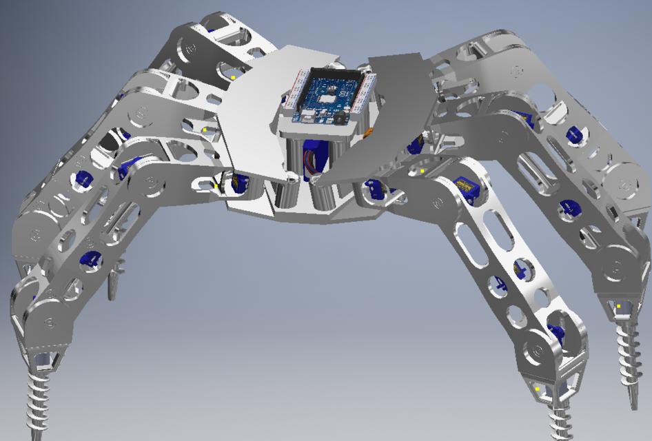 5-Joint Hexapod Robot | 3D CAD Model Library | GrabCAD