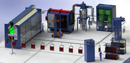 Electrostatic Powder Coating Plant (Paint Plant)