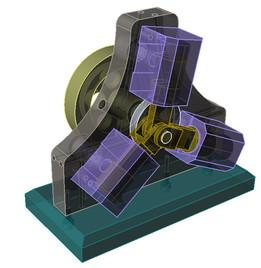 Three-Cylinder Oscillating Engine