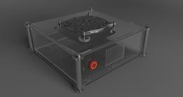 Acrylic thin miniITX PC case