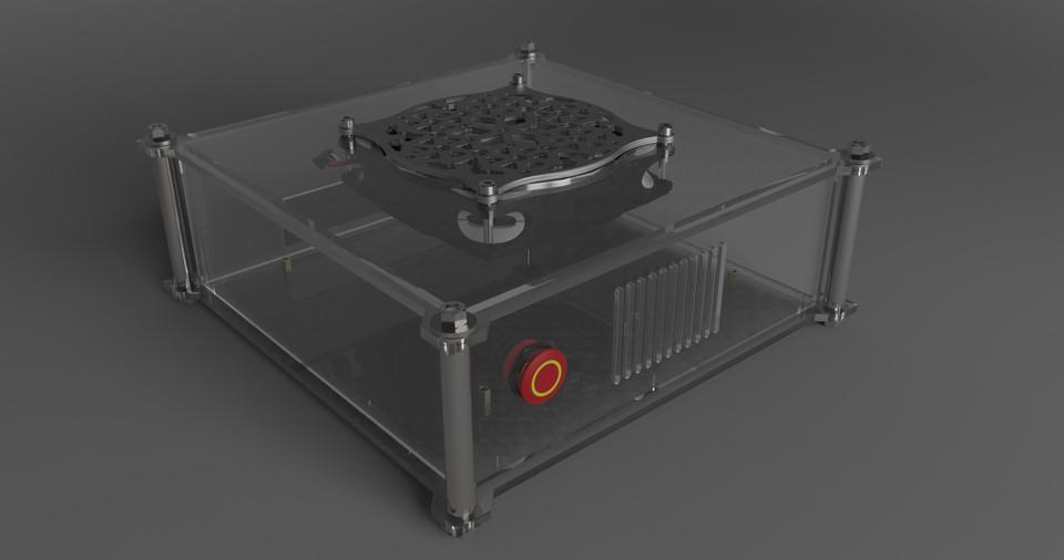 Acrylic Thin Miniitx Pc Case 3d Cad Model Library Grabcad