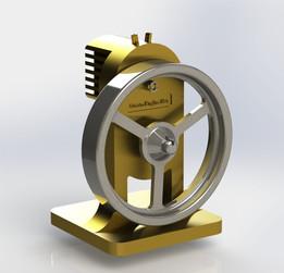 Very very very simple micro steam engine.