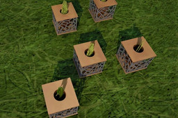 6 in 1 Multipurpose cube with a mini-vase
