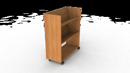 Book shelf on wheels