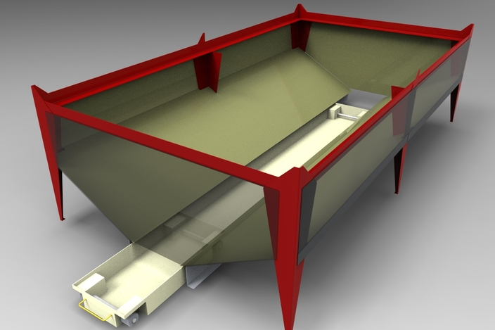 Plasma Cutter Downdraft Table - Concept - - 3D CAD model ...