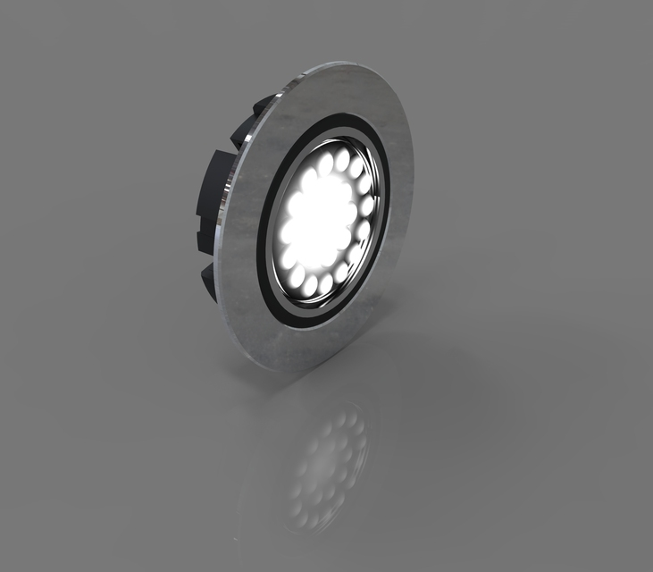 Industrial Ceiling Light 3ds Max: Flat LED Recessed Light