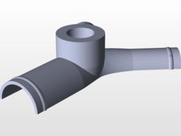 24.5 x 16 x 16 Coolant tee with port for temp sensor