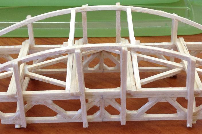 Balsa Wood Bridge Stl Solidworks 3d Cad Model Grabcad