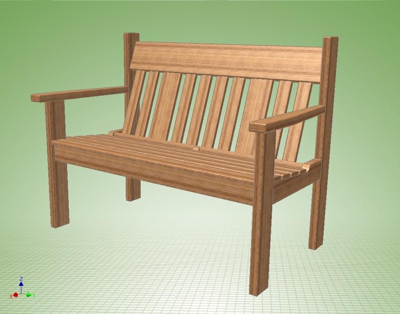 garden furniture b autodesk inventor 3d cad model grabcad - Garden Furniture 3d
