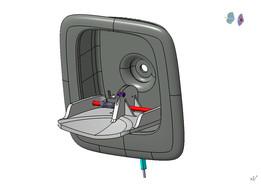 Koenigsegg Hood Handle Design