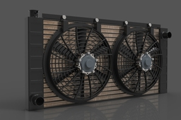 Radiator twin fan