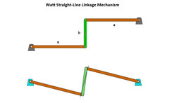 Watt Straight-Line Linkage Mechanism