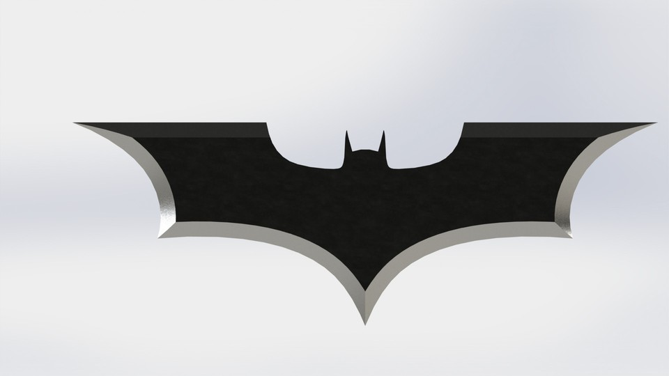 Batman Logo 3d Cad Model Library Grabcad