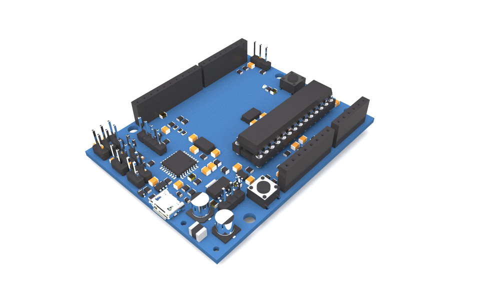 Modified Arduino Uno | 3D CAD Model Library | GrabCAD
