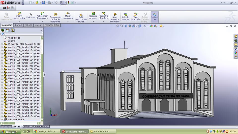 CCB Church in 3D   3D CAD Model Library   GrabCAD