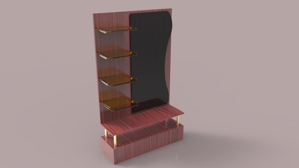 Dressing Table | 3D CAD Model Library | GrabCAD