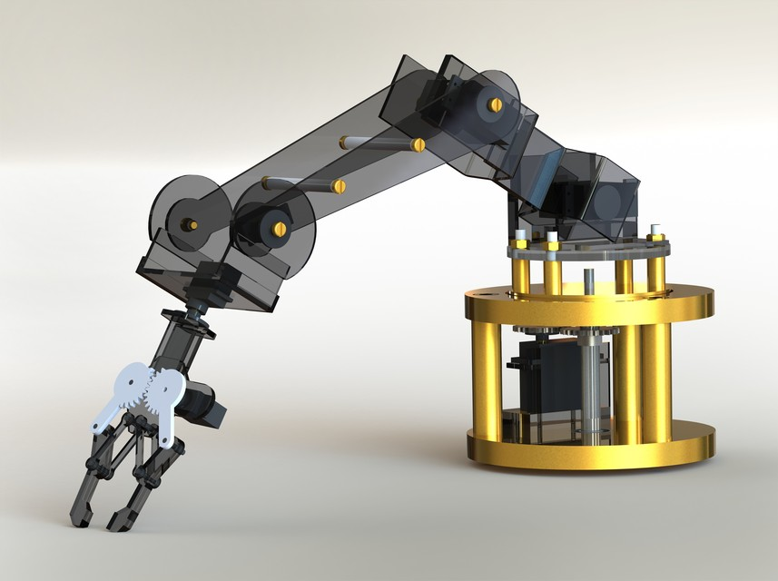 Robotic Arm 3d Cad Model Library Grabcad