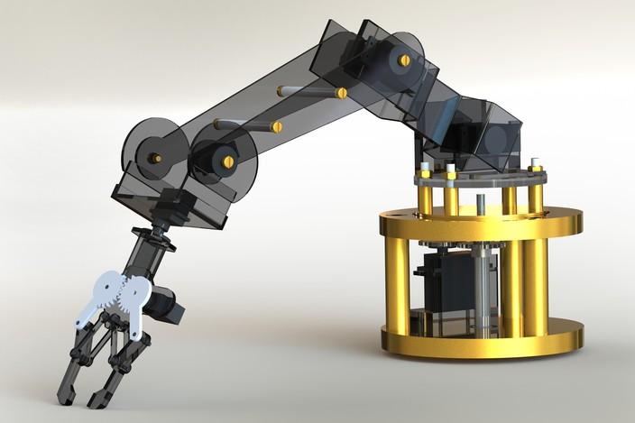 Robotic Arm Autocad Step Iges Solidworks Other 3d