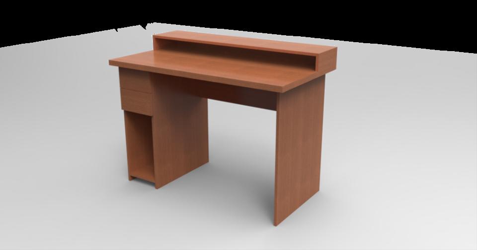 Delicieux Simple Computer Desk | 3D CAD Model Library | GrabCAD