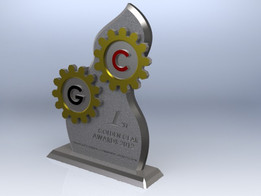 USD 40.00 per unit Golden Gear Awards 2012 Trophy Concept Design