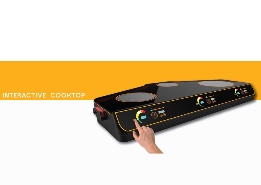 Interactive induction cooktop | 3D CAD Model Library | GrabCAD