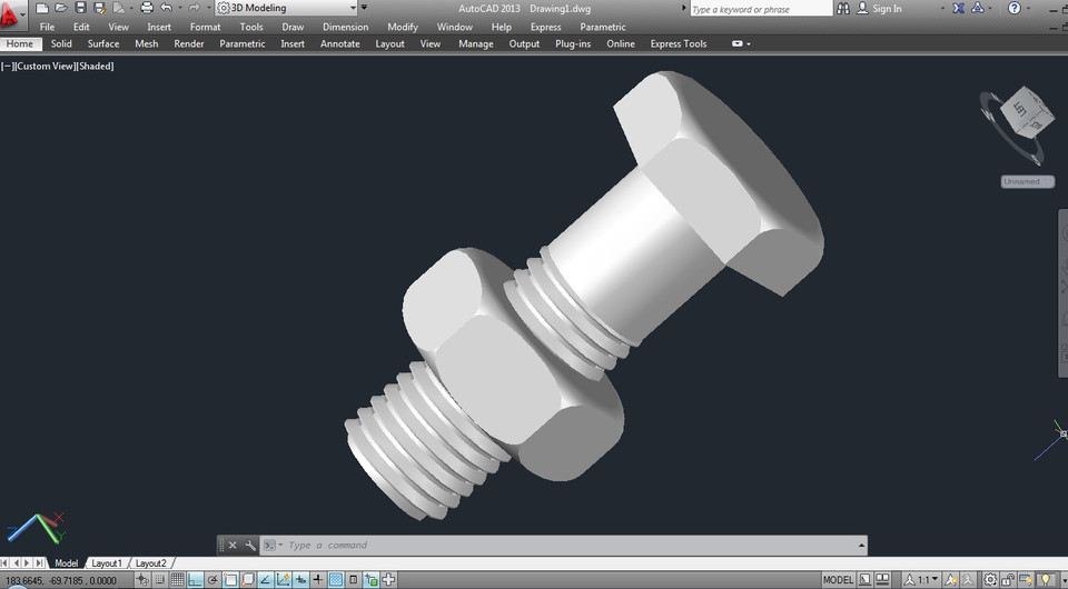 M8 Metric Bolt & Nut | 3D CAD Model Library | GrabCAD