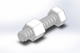 3D-Printed Bolt and Nut Combination