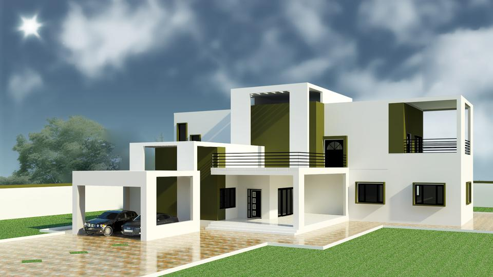 Modern house autodesk revit 3d cad model grabcad for New model contemporary house