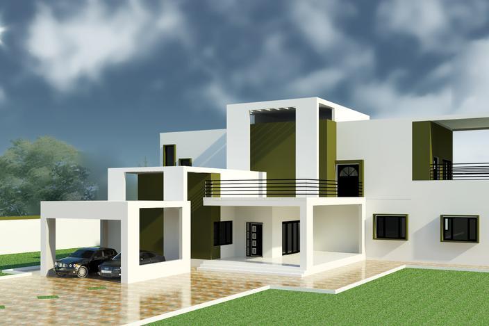 Modern house autodesk revit 3d cad model grabcad for Autodesk home design