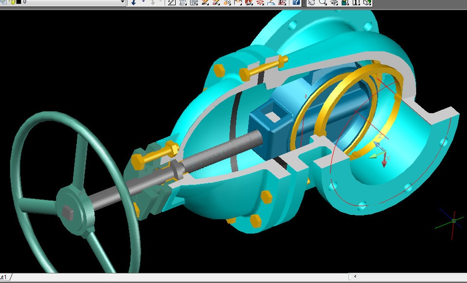 Gate valve autocad 3d cad model grabcad for Garderobe 3d dwg