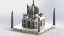 The Taj Mahal, Sheet metal puzzle, 3d puzzle, metalcraftdesign