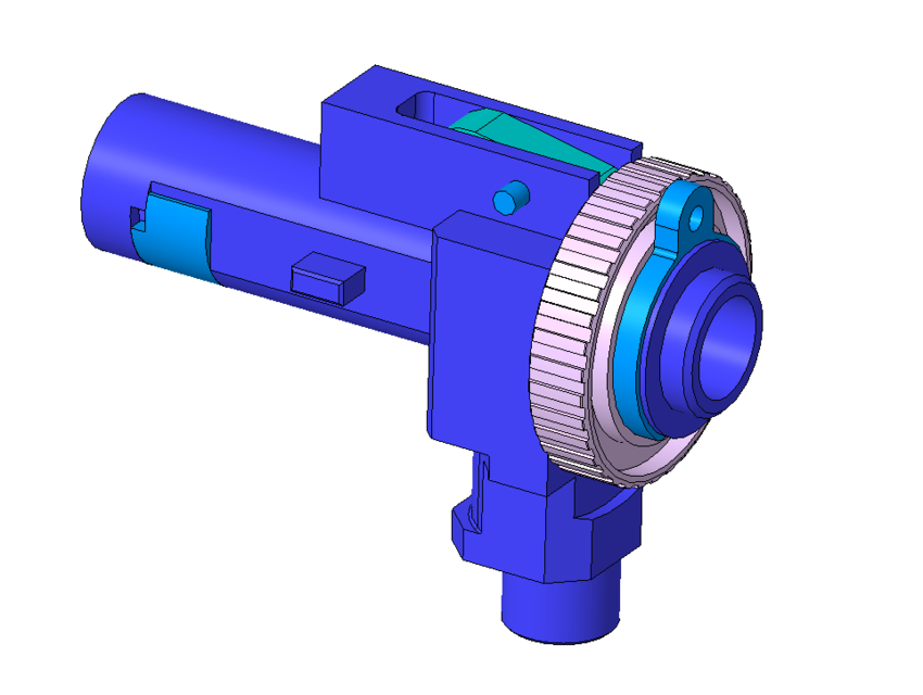 Airsoft ProWin M4 Hop Up chamber | 3D CAD Model Library