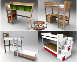 Children beds 4 in 1!