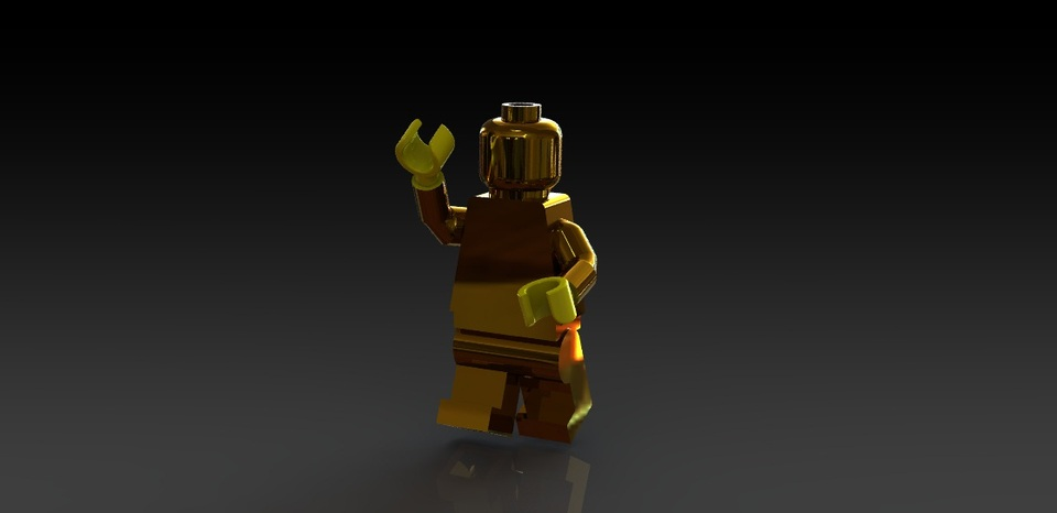 Lego Minifigure | 3D CAD Model Library | GrabCAD