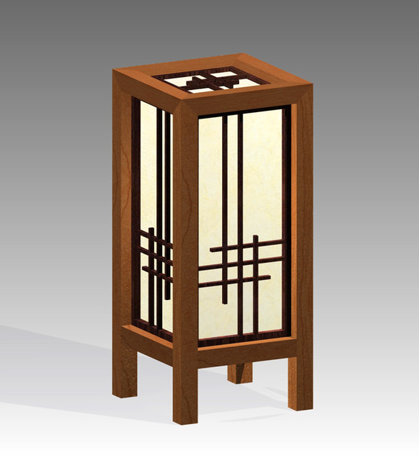 Shoji Table Lamp | 3D CAD Model Library | GrabCAD