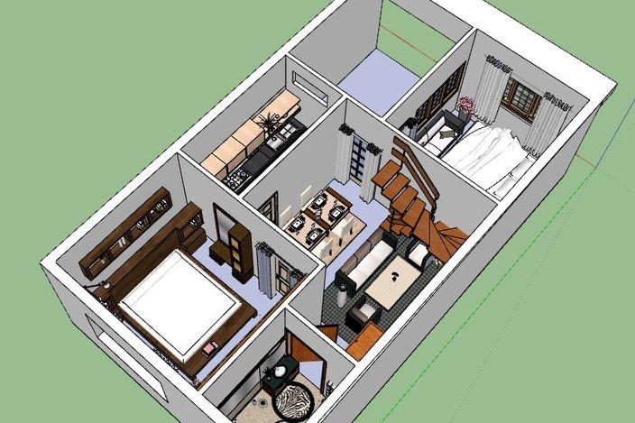 sweet home sketchup 3d cad model grabcad. Black Bedroom Furniture Sets. Home Design Ideas