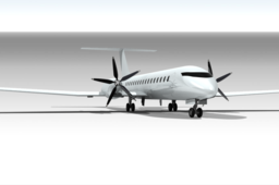 Turboprop Commercial Plane