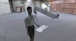Ceiling arm