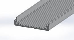 GB 38 1000 Fischer Elektronik Aluminum Extrusion / Profile