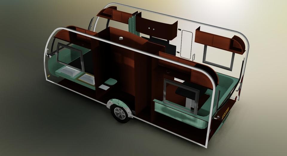 . Caravan   AutoCAD   3D CAD model   GrabCAD