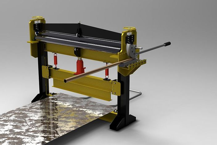 All in one metal sheet and tube machine