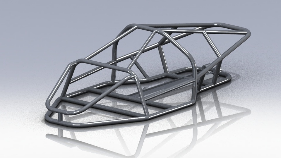 CAR FRAME | 3D CAD Model Library | GrabCAD