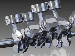 V8 engine main shaft