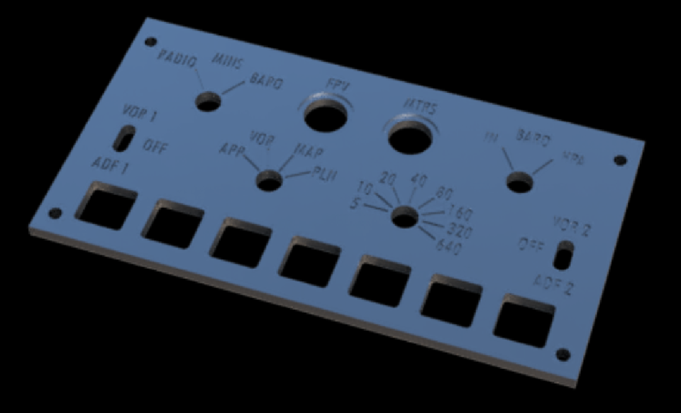 Boeing 737 EFIS Panel | 3D CAD Model Library | GrabCAD