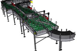 Water Factory in KSA - End of line solution - Chain conveyor - roller conveyor