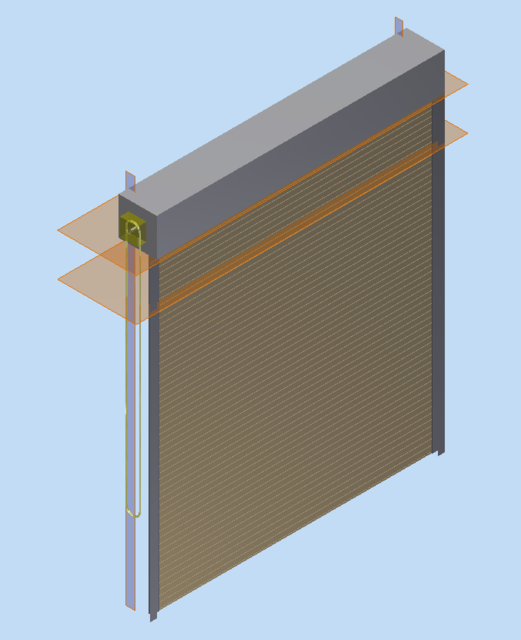 Overhead Roll Up Door Stl Step Iges 3d Cad Model