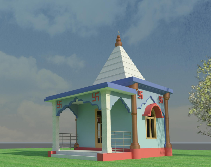 Indian Small Temple design | 3D CAD Model Liry | GrabCAD on mandir for home outdoors, mandir for home in usa, small waterfall designs, mandir for home purchase deities usa, hindu temple for home designs, marble home designs, wooden carving door designs,